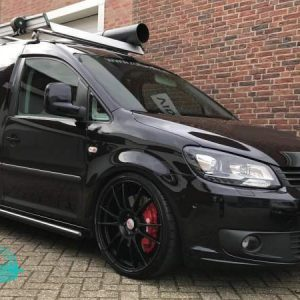 vw caddy sidebars zwart rvs l1