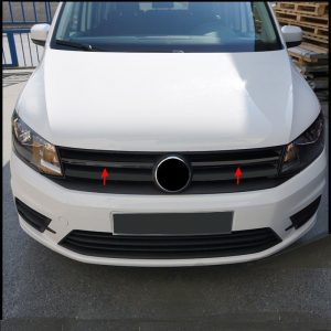 vw caddy grill rvs zwart 2 delig