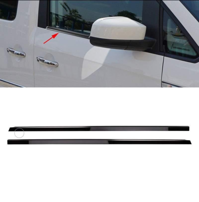 vw caddy raamlijsten rvs zwart